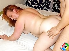 This chunky housewife fucks all day long