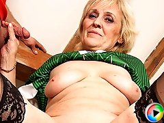 Granny and her pussy are fucked and she loves every inch of big fat cock meat