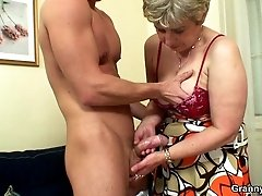 Grandma gets fucked in her old pussy and the pleasure of it is fantastically arousing