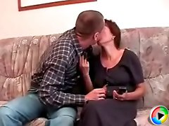 Mature pussy can't get enough of fucking with a horny youngster