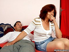 His wife happened to cuff him for some kinky fun but then her mother showed up and took him